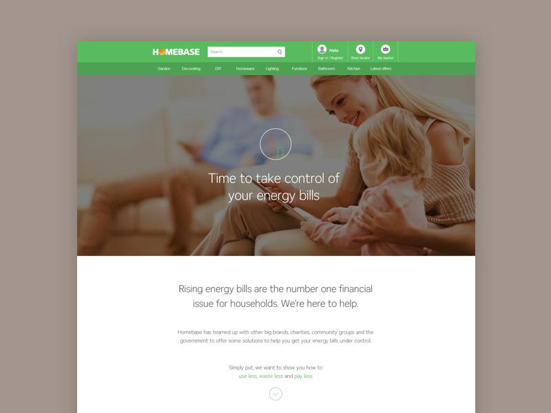 Energy Vision - Homebase message icon heating home energy web
