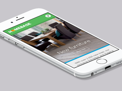 Email marketing CMS - Homebase responsive mobile inspiration furniture home cms marketing email