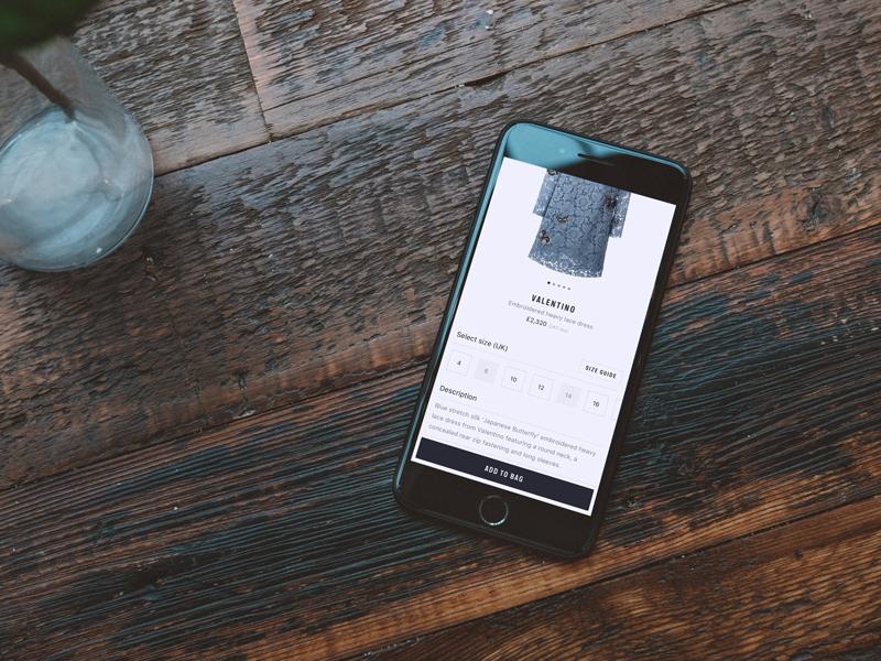 Design features & optimisation - Farfetch  minimal tech startup ipad iphone optimisation ux ui ios fashion