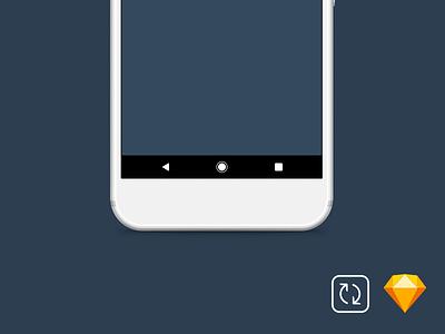 Google Pixel: Android Navigation Bar - Sketch Symbol material design ui freebie bar navigation symbol android pixel google sketch
