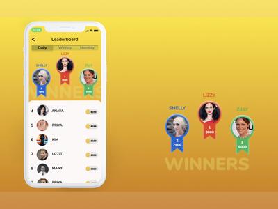 Leaderboard designer appdesign app designer leader leaderboard leaderboards leadership app design app animation ux ui design
