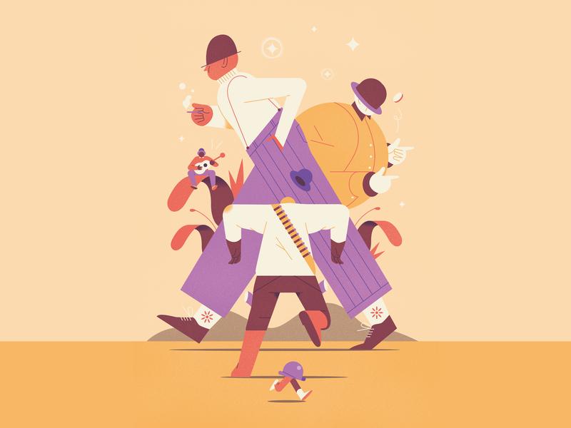 Bowler hat character illustrator animation design illustration