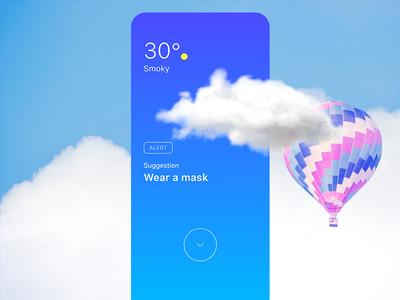 Weather UI blue ui ux blue app design weather app design app design temperature app temperature ui design adobe xd ui  ux design cloud app beautiful clouds weather app