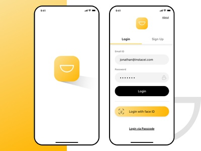 Awesome UI ui black ui cool animation app animation yellow yellow app design yellow ui design adobe xd app interaction app design ui  ux design ui design