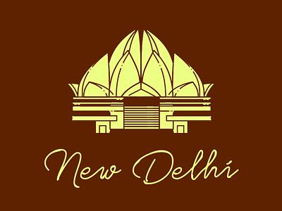 New Delhi Sticker typography branding vector illustration logo sticker design best sticker two color nitish verma india hometown sticker hometown dribbble rebound dribbble best shot sticker
