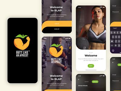 Fitness App fitness center fitness app health app fitness black ui app interaction cool animation adobe xd dribbble best shot app design ui  ux design ui design