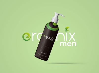Erganix men | botanically yours Concept organic skincare minimal logo men packaging design cosmetic branding beauty