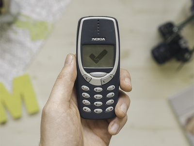 Sellf for Nokia 3310 mockup logo nokia sellf business crm iphone apple april fool