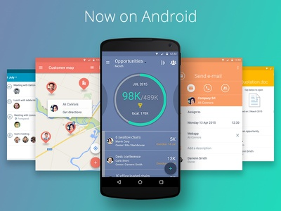 Sellf for Android in now available! todo task note crm business app material material design android