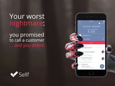 Sellf for Halloween nightmare deal android apple iphone business sales crm sellf halloween