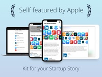 Sellf featured by Apple Jun 2018  ✅🏆📱