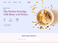 Adobe XD Challenge #1: Hover Effects states hover state hover effect food web website recipe transitions hover xdchallenge adobe xd adobexd