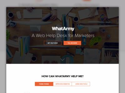 WhatArmy Homepage