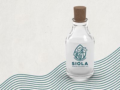 Virgin Coconut Oil Branding brand identity line art coconut oil palm trees affinity designer branding branding design