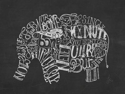 Adoption Creed Elephant lettering shape ink calligraphy blackboard chalk chalkboard adoption elephant lettering handlettering