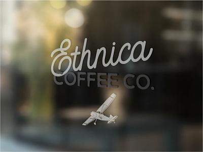 Ethnica Coffee Brand Design arizona brand identity logo design coffee shop hand illustration mockup affinity designer logo coffee logo coffee brand coffee airplane illustration typography brand design