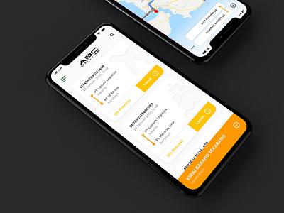 ABC Online MockUp logistics branding ux ui indonesia app design app