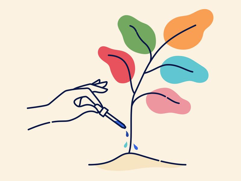 Healthy Plant Illustration linework minimal hand dropper plant illustrator illustration