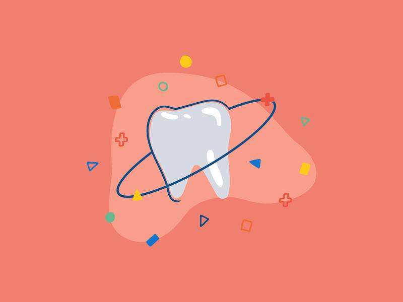 Dental Practice Illustration anatomy organic lines geometric shapes memphis milano ebook adobe illustrator illustration dentistry tooth teeth dentist