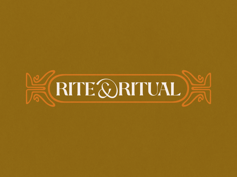 Rite & Ritual Concept | WIP 60s vintage 70s psychadelic art nouveau brand identity branding brand identity logo
