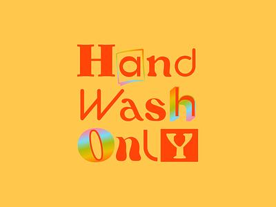 Hand Wash Only milano coffee mug ceramics maximalism 90s 80s vintage logotype rainbow gradient logo design branding logo