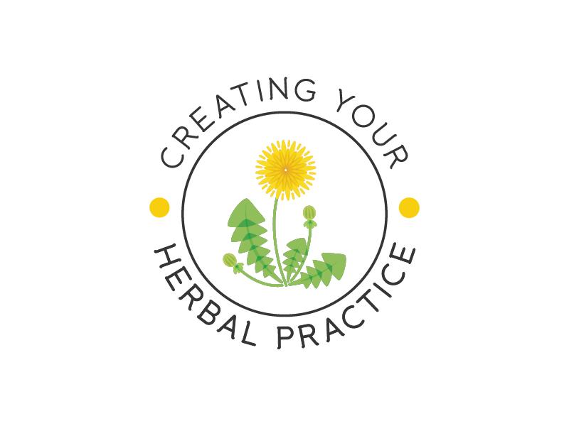 Creating Your Herbal Practice medicine homeopathy dandelion branding logo herbs