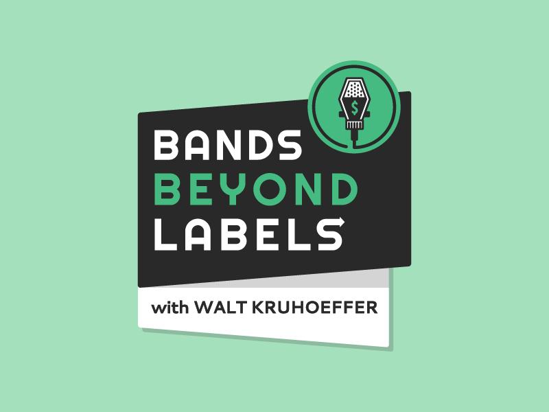 Bands Beyond Labels Podcast Logo vintage mic microphone podcast branding logo