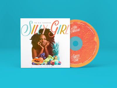 'Silly Girl' Album & CD Art grapefruit surreal silly girl reggae pop fruit colorful cd big takeover band art direction album cover