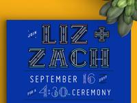 Casa Azul Wedding - Invitation detail