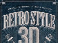Retro style 3d tools   preview