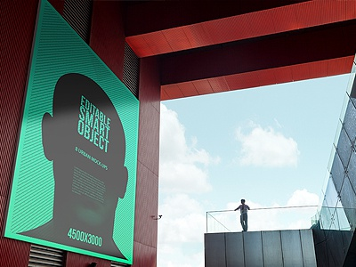 9 Urban Poster / Flyer / Billboard Mock-Ups - Huge Edition branding mock-up mockup photorealistic print showcase artwork city big template display style