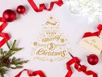 Clean Elegant Christmas Greetings   Dribbble Shot