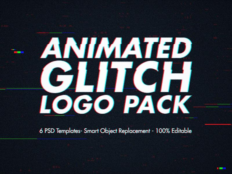 Animated Glitch Logo Pack - Photoshop Templates by Nuwan Panditha ...