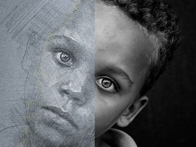 Eyes - Pencil Art Photoshop Action digital art sketch realisitc pencil handdrawn drawing draw design brush artwork artistic abstract