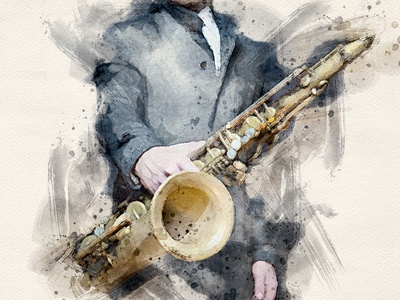 Jazzman - Watercolor Artist Photoshop Action