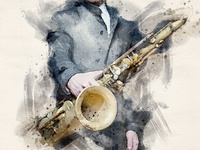 Jazzman - Watercolor Artist Photoshop Action
