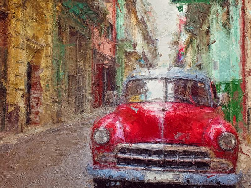 Cuba - Painterly Action set impressionism art freebie photo effect photoshop action digital painting painting free digitalart artwork adobe photoshop