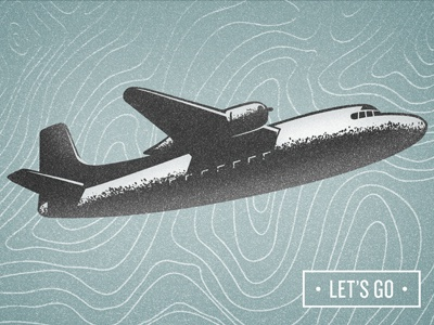 Hey Ho, Let's Go! airplane blue illustration