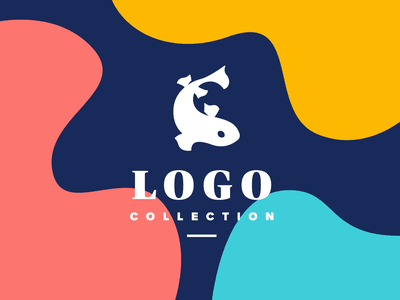 Logo Collection I negative space logo negative space negativespace negative fish logo fish brand design identity logo