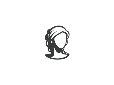 Hairdresser - Logo negative face vector brand logo hairdresser hair