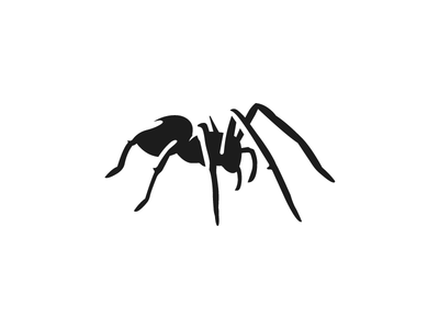Spider black arachnid simple negative logo spider animal
