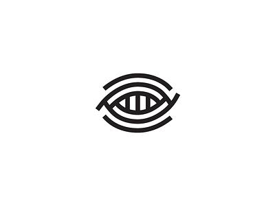 Eye line icon branding logotype negative vector brand identity logo