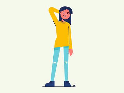 Character design characterdesign character branding brand identity design identity color vector girl