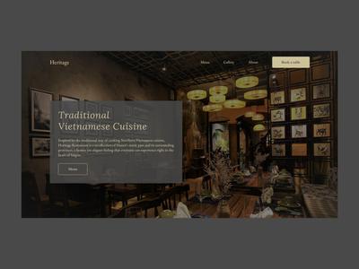 Heritage Restaurant Landing page restaurant uiux ui web
