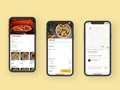 UI Practice_Food Delivery app ux minimal illustration design ios food delivery food app food flatdesign flat