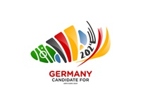 Germany candidate for euro 2024 | Logo design