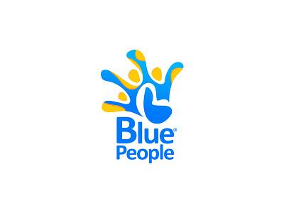BluePeople | Logo agency fresh gradient blue logo design branding symbol logo design