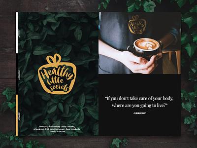 Healthy Little Secrets | Moodboard food branding coffeeshop visual direction visual  identity feeling moodboard dubai brand strategy brand logomark branding symbol logo design logo design