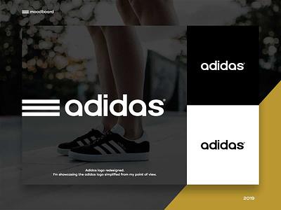 Adidas logo redesigned | Moodboard adidas mark identity graphic designer concept mood board moodboard redesign ui logomark symbol branding logo logo design design