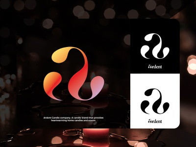 Ardent | Brand Mark | candle company a mark a logo letter brandmark candle business icon mark symbol logomark branding design logo design logo brand
